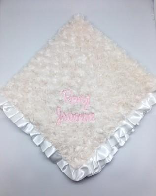Ivory Fur Swirlz Blanket