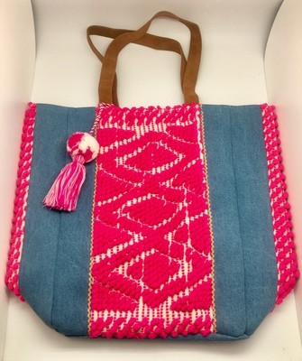 Pink Weave Tote