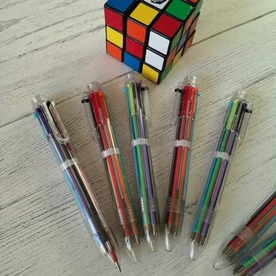 Retro 6 in 1 retractable biro pen