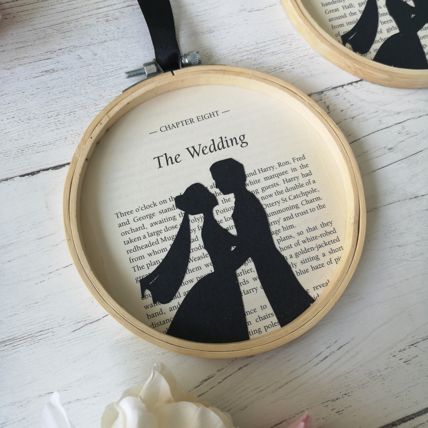 Harry Potter Wedding book art made from original book pages / Unbreakable Vow