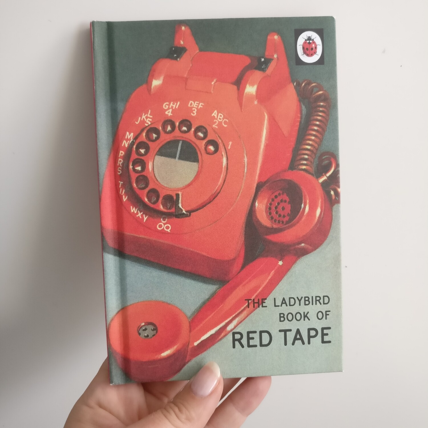 The book of Red Tape Notebook - Ladybird book - telephone, books for grown ups