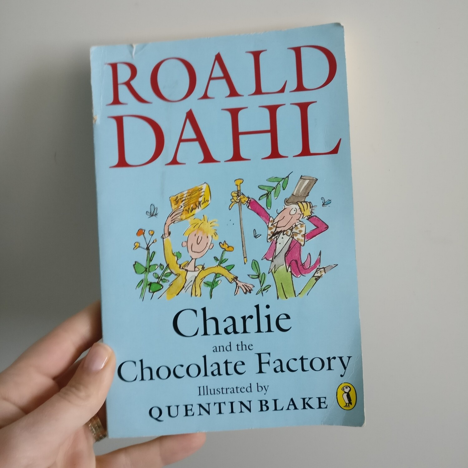 Charlie & The Chocolate Factory by Roald Dahl Notebook - made from a paperback book