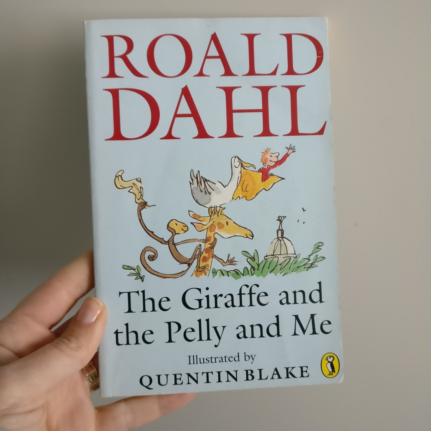 The Giraffe, Pelly and Me by Roald Dahl Notebook - made from a paperback book