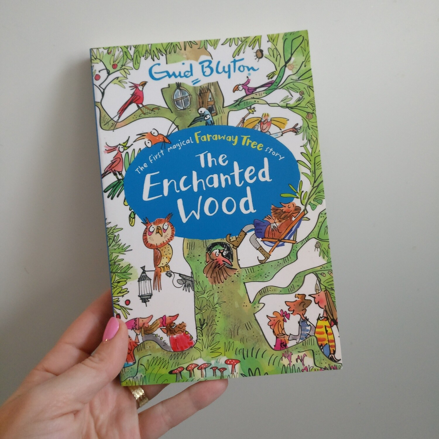 The Enchanted Wood Notebook Enid Blyton made from a paperback book
