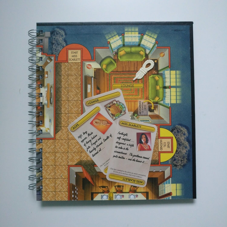 Cluedo Plain Paper Notebook - READY TO SHIP