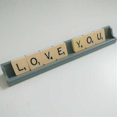 Love You Scrabble Sign - READY TO SHIP