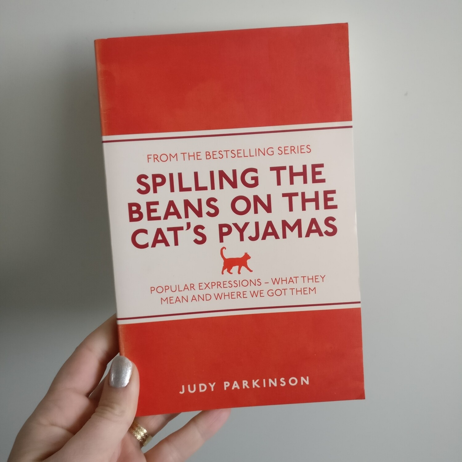 Spilling the Beans on the Cat's Pyjamas Notebook - made from a paperback book