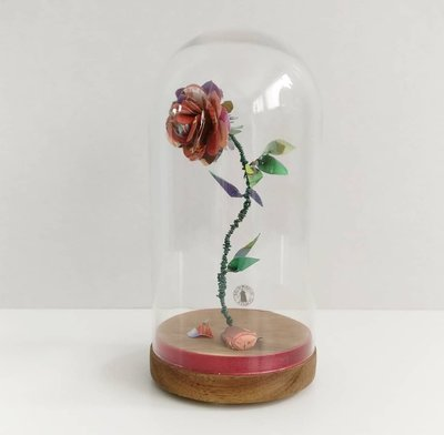 Paper rose made from book pages