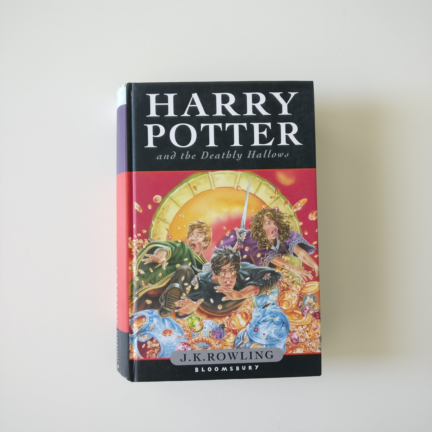 Harry Potter and the Deathly Hallows - made from a dust jacket