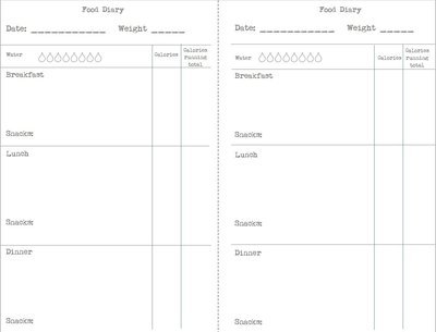 Calorie Counting Food Diary