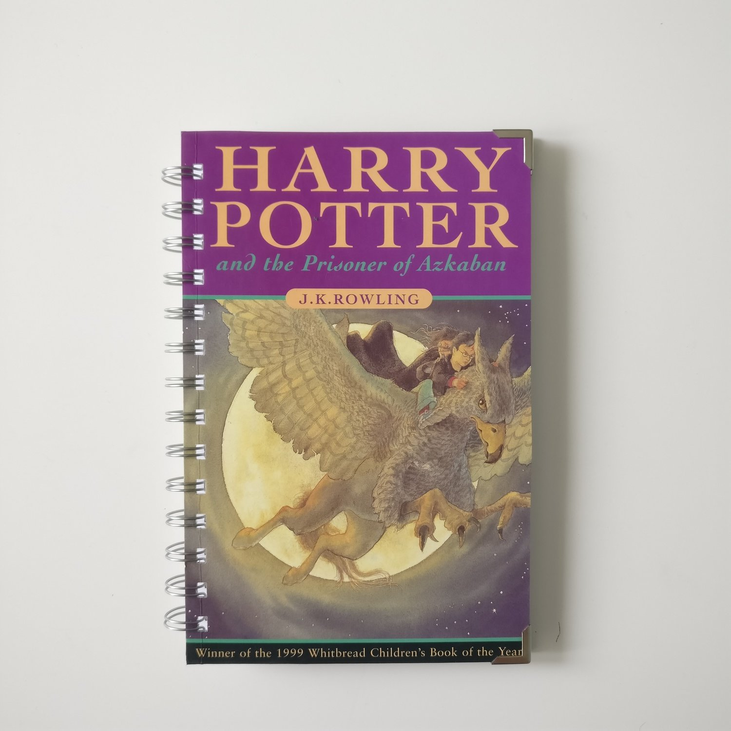 Harry Potter and the Prisoner of Azkaban Notebook made from a paperback book
