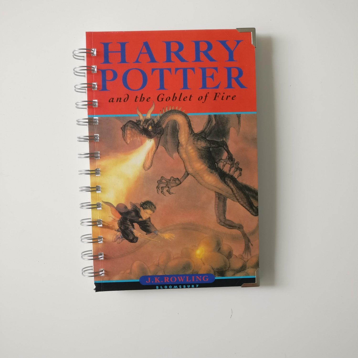Harry Potter and the Goblet of Fire Notebook made from a paperback book