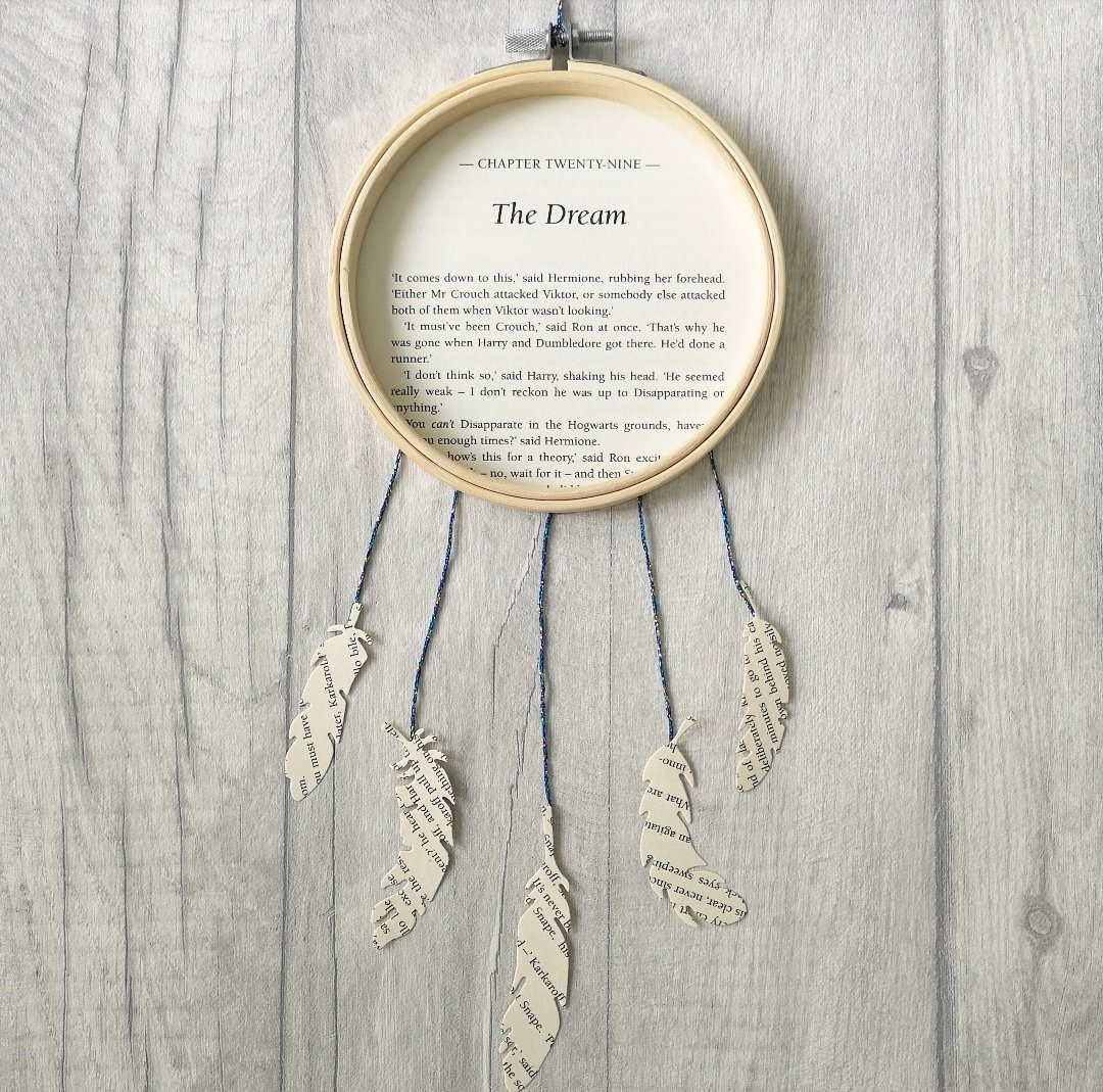 Harry Potter Dream Catcher made from original book pages
