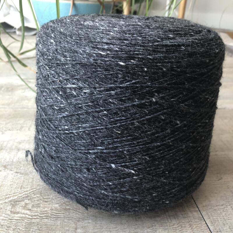 WarmWoolGallery Mohair-Tweed  BLACK BIRCH