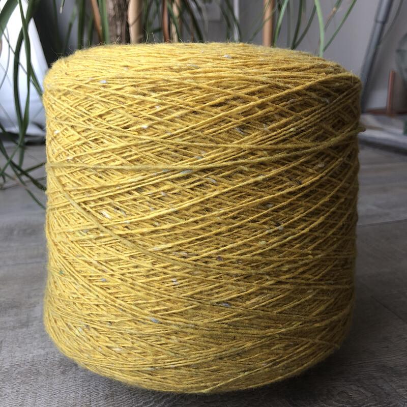 WarmWoolGallery Tweed Mohair -LEMON DROPS