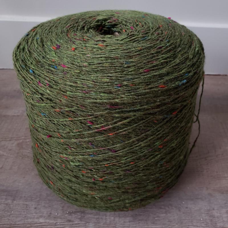 WarmWoolGallery Tweed Mohair - FOLIAGE