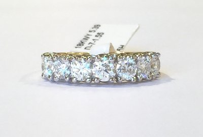 18ct seven-stone diamond ring
