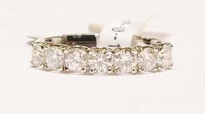 18ct white gold seven-stone diamond ring