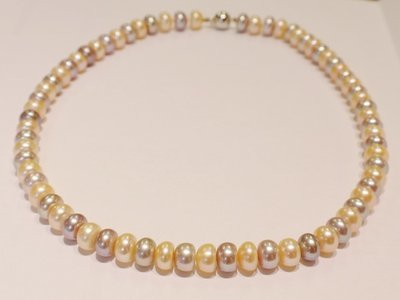 "17"" freshwater pearl necklace"