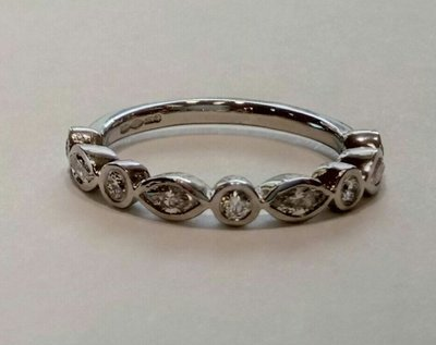 Marquise and brilliant cut eternity ring