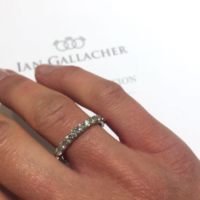 platinum diamond full set eternity ring