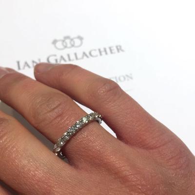 platinum diamond full set eternity ring