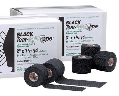 Mueller тейп Black Tear-Light Tape, 7,5см x 6,9м, черный