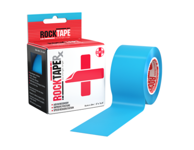 RockTapeRx Кинезиотейп, 5см x 5м, голубой