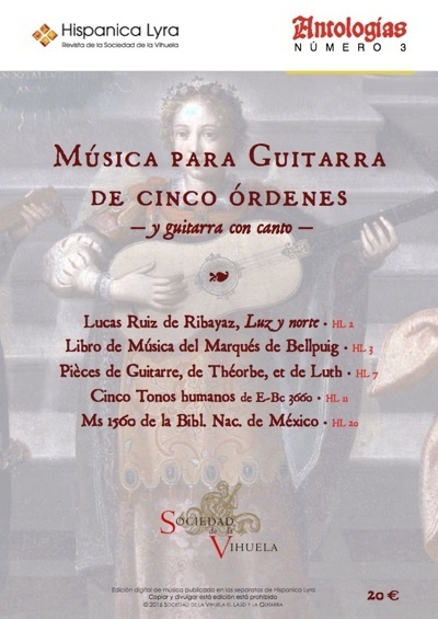 Música para guitarra de cinco órdenes / Music for five-course guitar