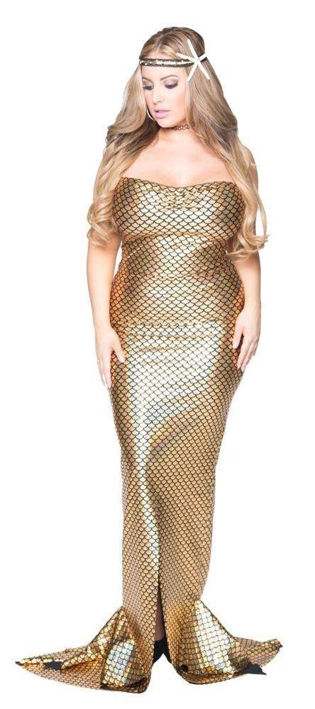 Plus size Golden Belle Mermaid Costume
