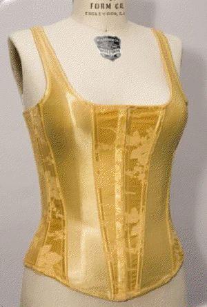 8e9a45be6f Empire Intimates 6909xx Super Plus Size Gold Satin Jacquard Strapped Corset  44