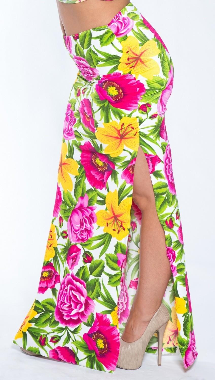 Plus size Hawaiian Print Long Beach Skirt