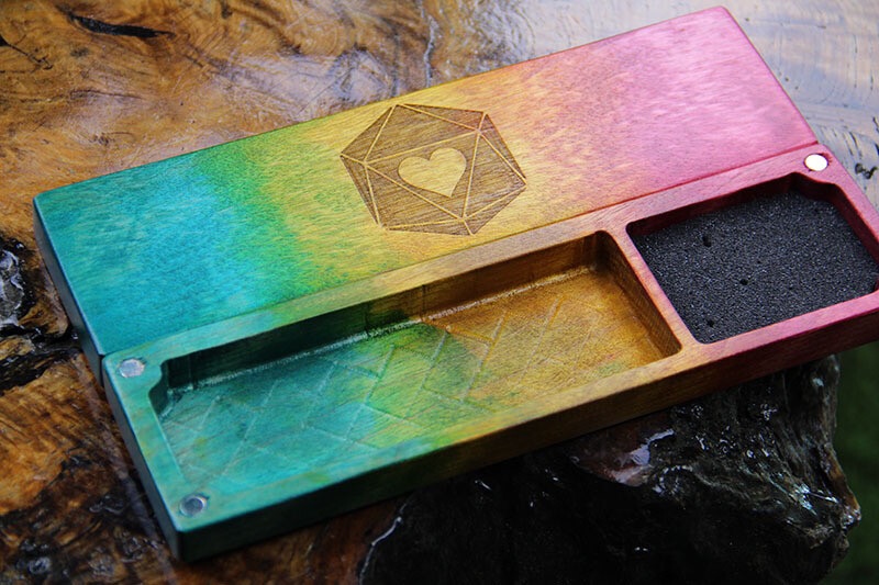 Pansexual Pride Dice Box