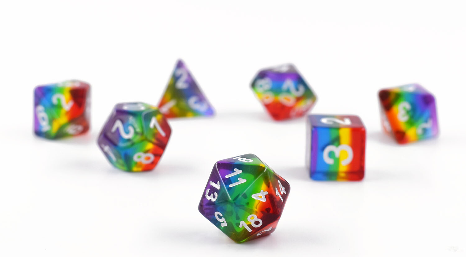 Translucent Rainbow Pride Set