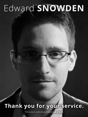 Edward Snowden - Thank You for Your Service - POSTER