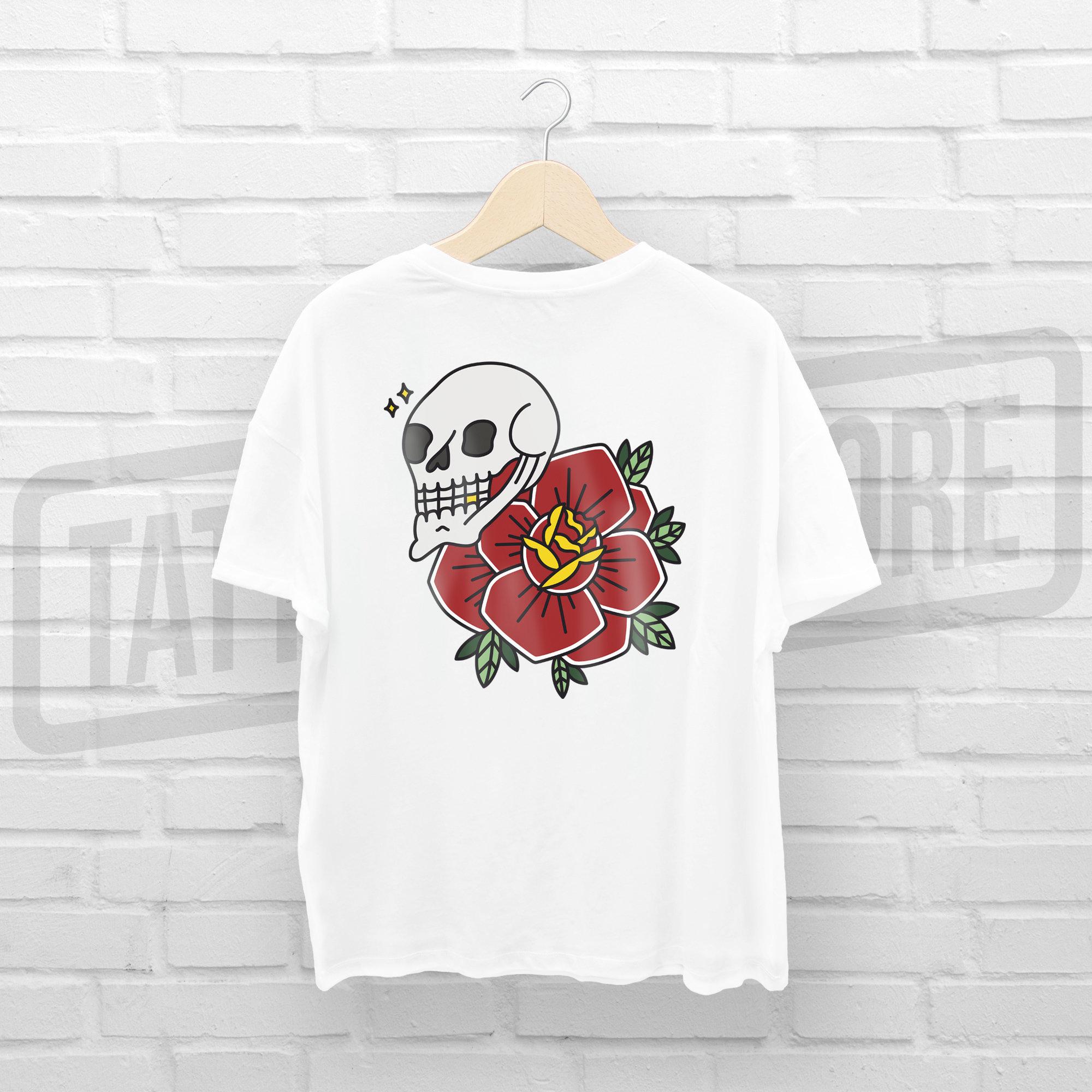 Camiseta Skull & Rose - Guillem Hansen TSGHCM001