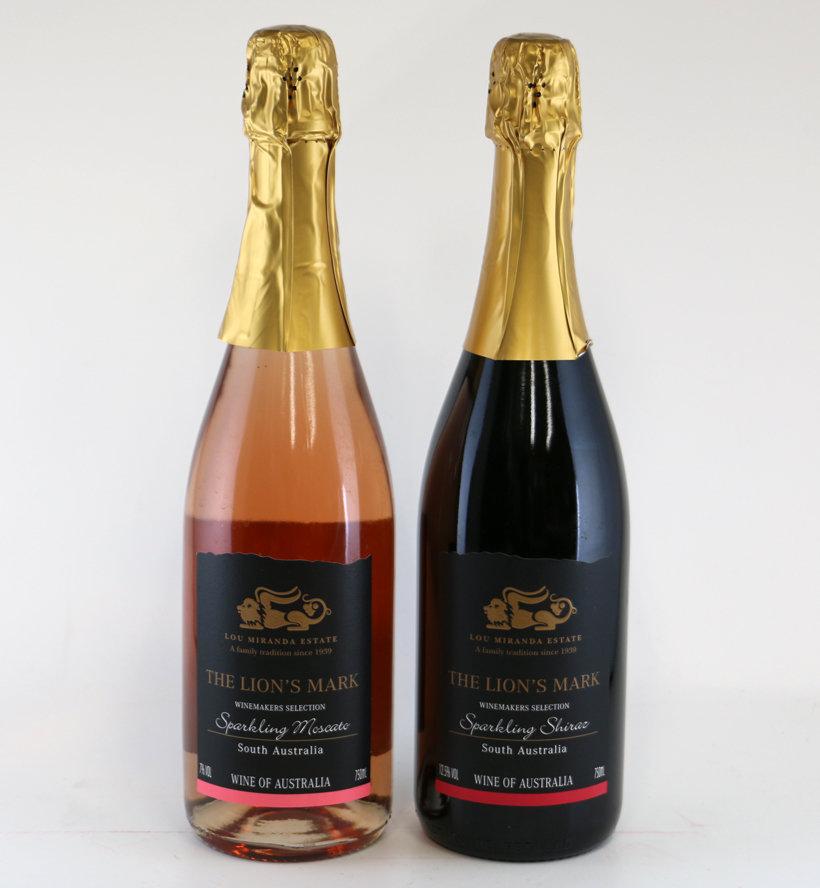 オーストラリアスパークリングワイン(赤3本、ピンク3本)