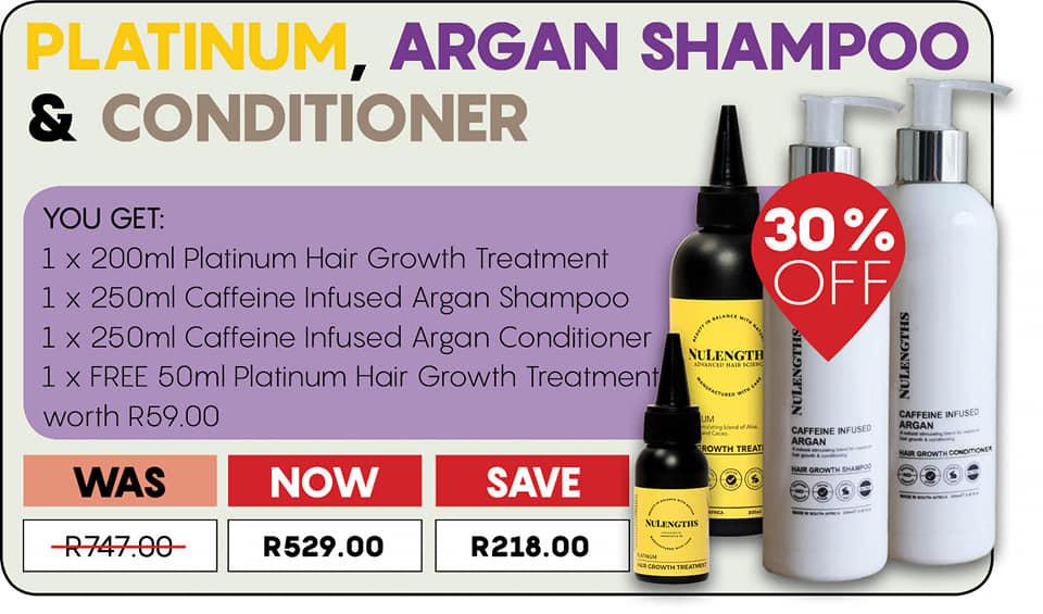 Platinum, Argan Shampoo & Conditioner