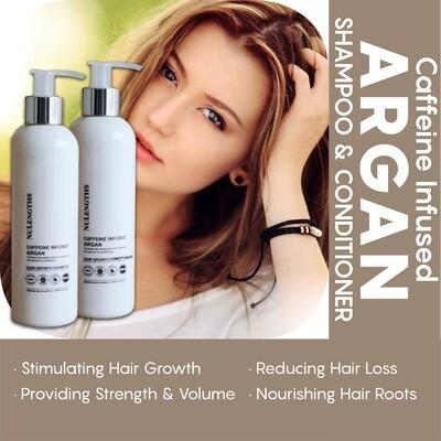 Caffeine Infused Argan Hair Growth Shampoo & Conditioner Combo