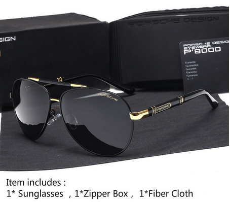 d288296966 Porsche Design Polarized Sunglasses Men Retro Frame