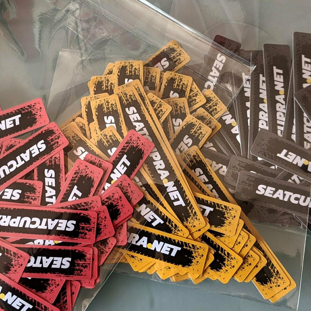 SEATCUPRA.NET x3 Multipurpose Waterproof Permanent Stickers - (new product)