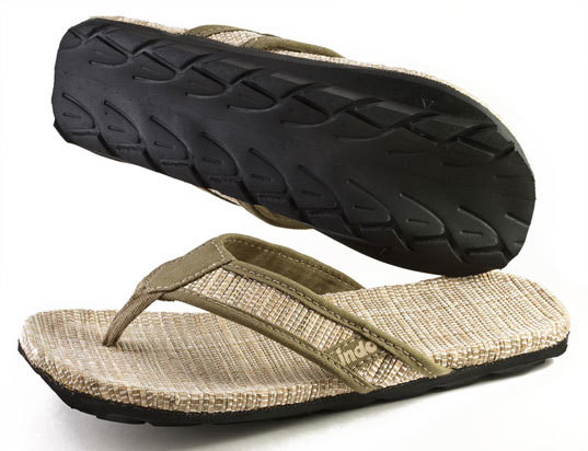 Indosole Men's Grass Mat Sandal
