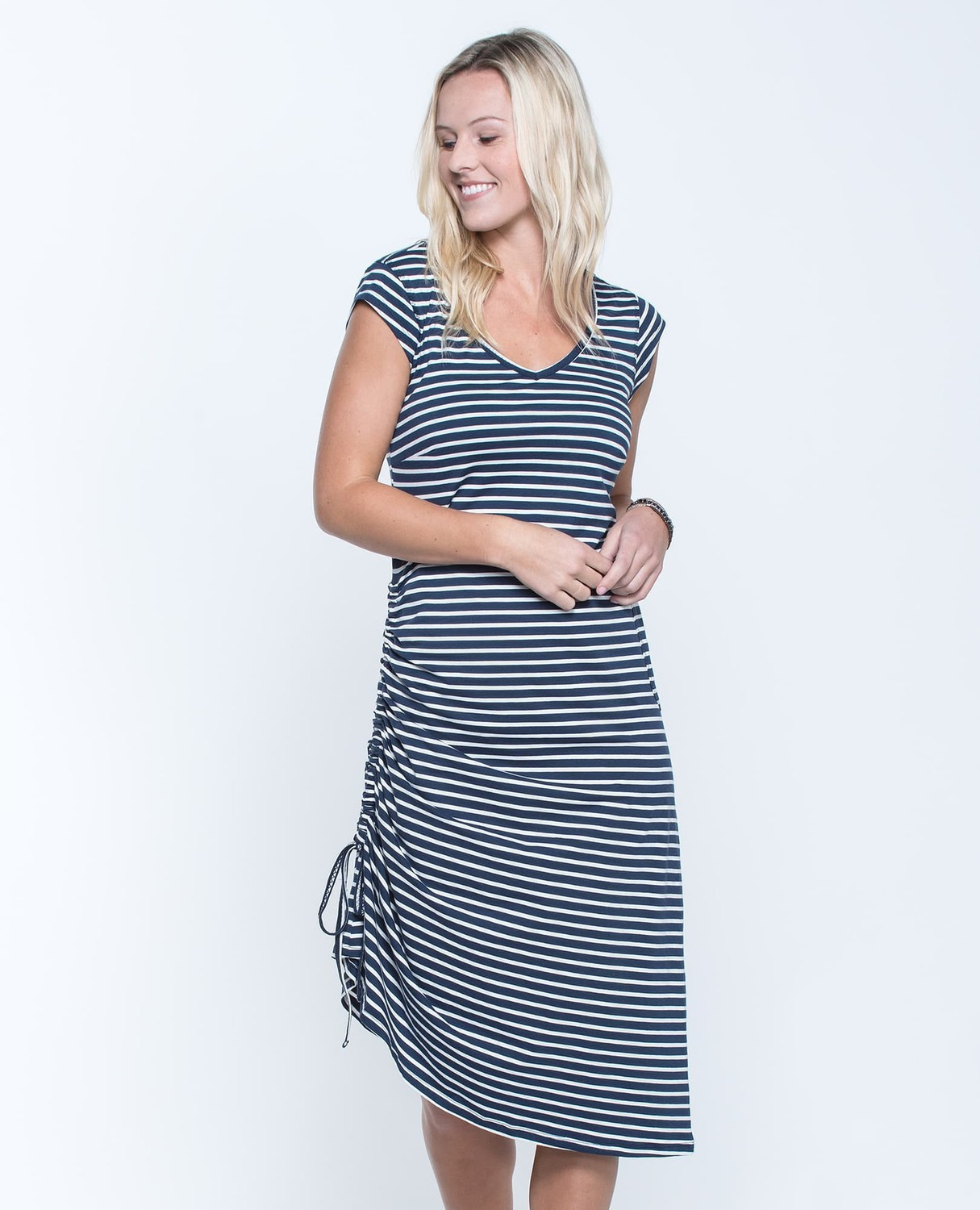 T&C Muse Dress Navy Stripe