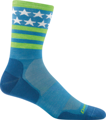 Darn Tough Stars/Stripes Micro Crew Ultra-Light Bike Sock