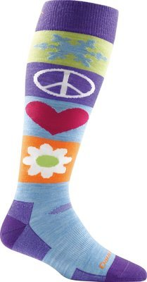 Darn Tough Women's Peace Love Snow Over-the-Calf Light Sock