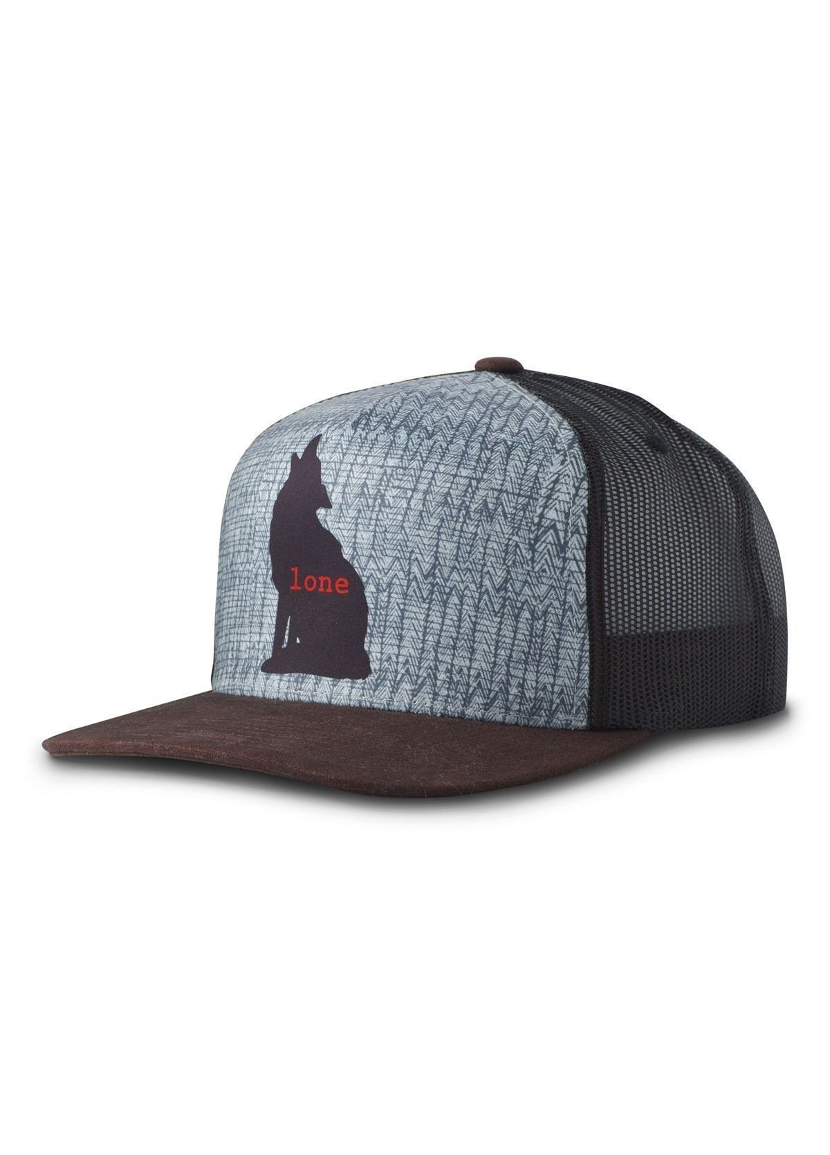 prAna Journeyman Trucker Hat Lone Wolf PRJMTHwolf