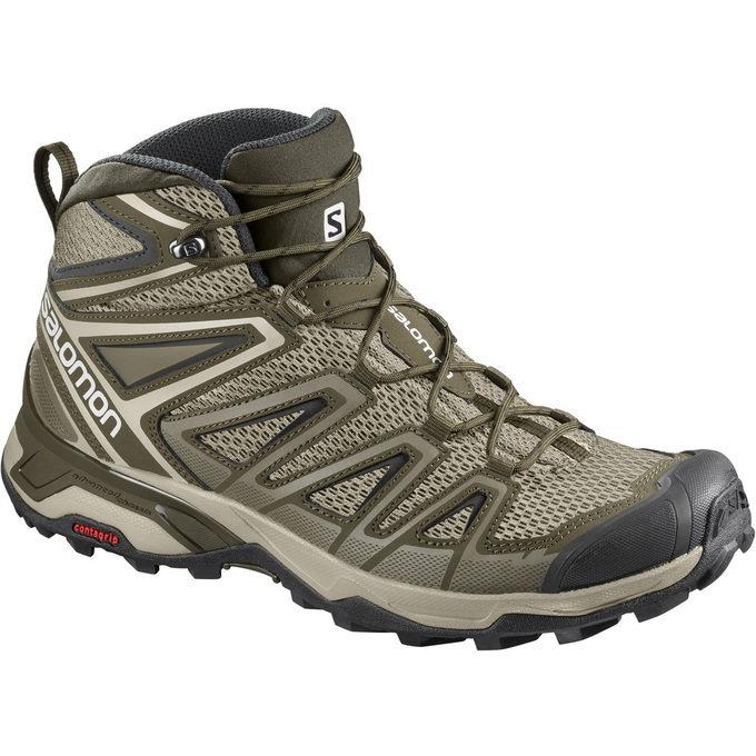 Salomon X Ultra Mid Aero Men's Hiking Shoes JR1SaUMAM