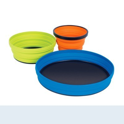 Sea to Summit X-Set 3 Piece: X-Plate, X-Bowl & X-Mug with X-Pouch