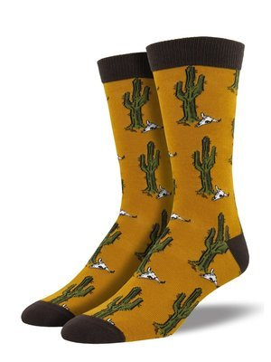 Sock Smith Bamboo Desert Cactus Men's Socks