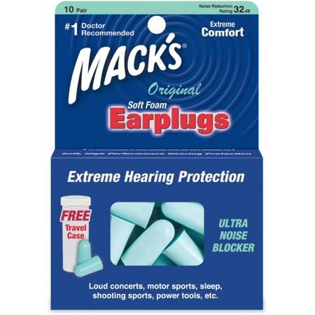 Mack's Original Soft Foam Earplugs JRI1MACKSOG